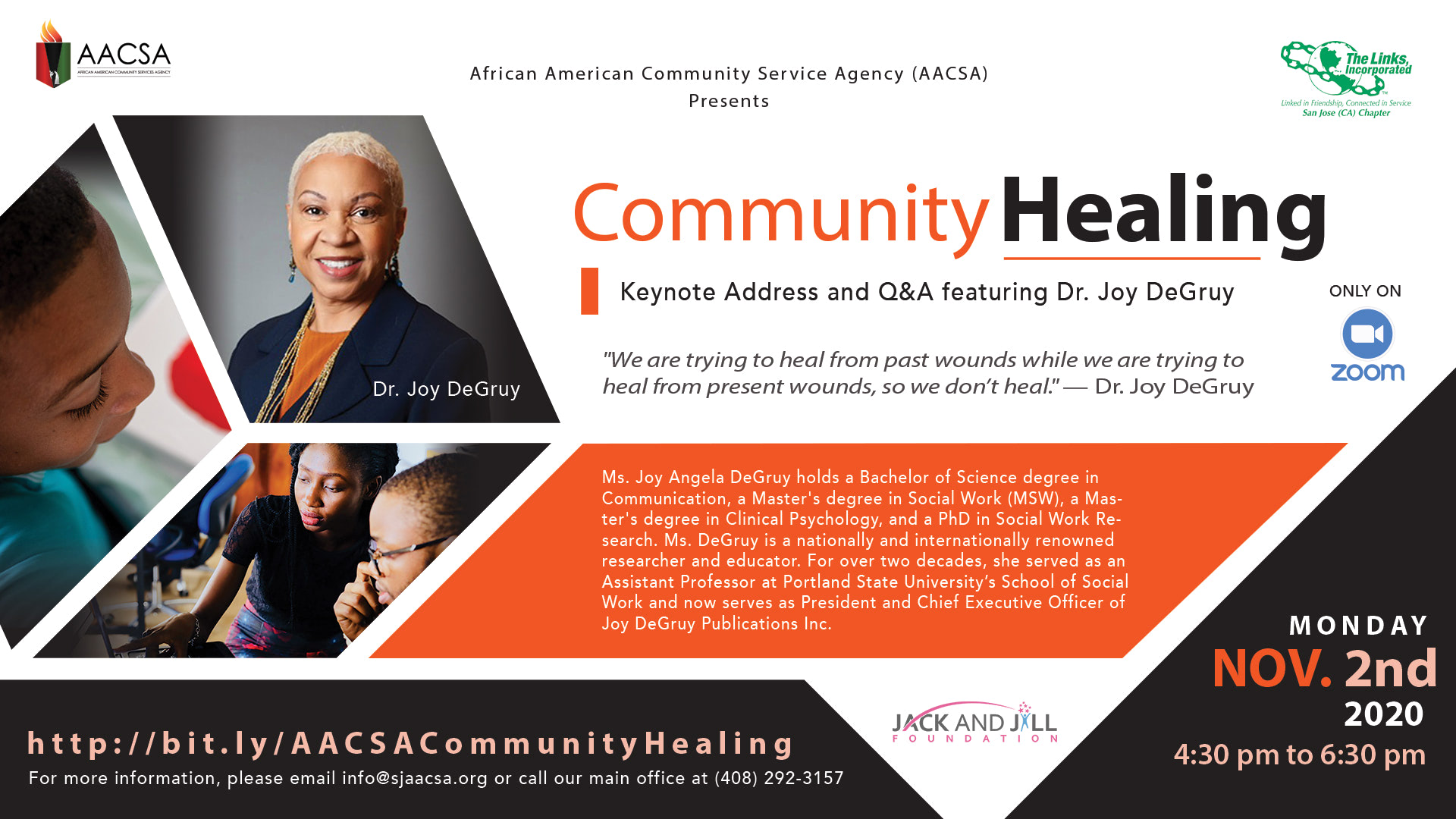 Community Healing event featuring Dr. Joy DeGruy