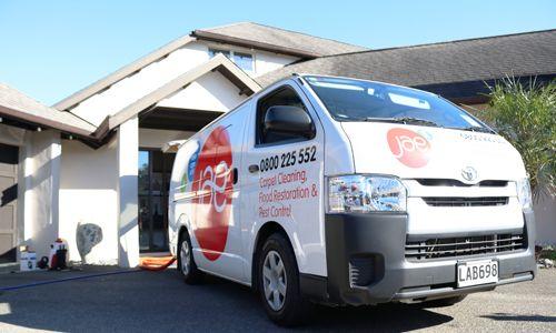 JAE van arriving at a house