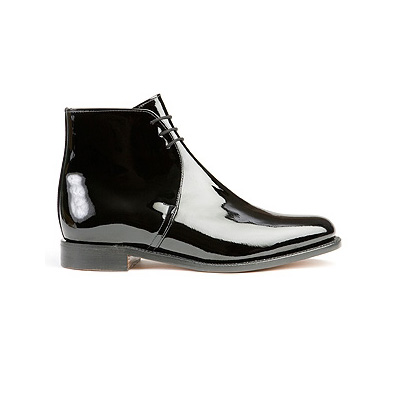 Sanders Patent Leather George Boots