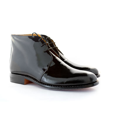 Boxed George Boots (Patent Leather)