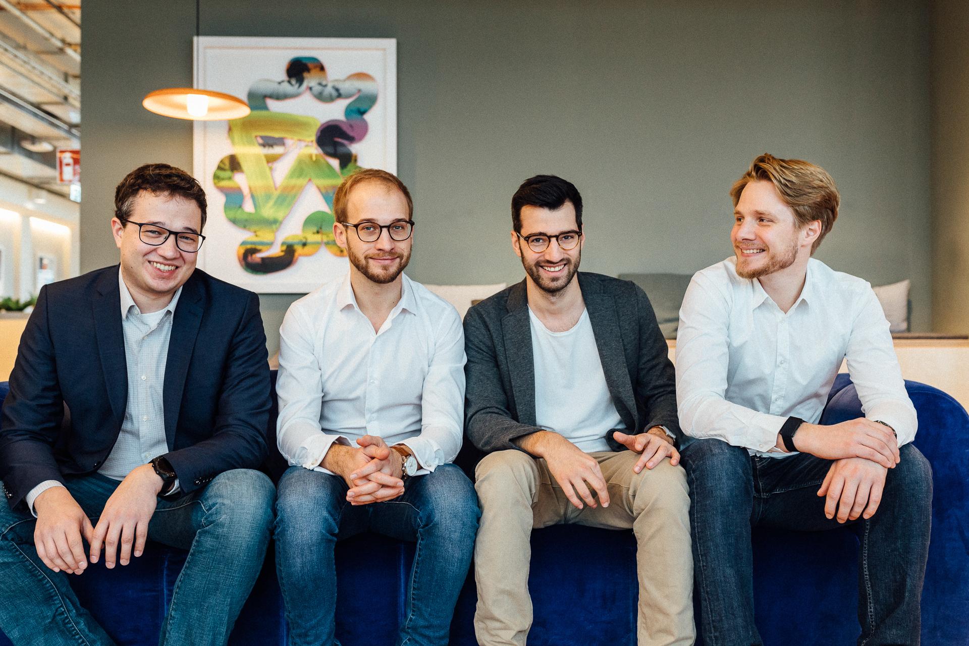 The XCNTTeam (from left to right): Christoph Brand,Sebastian Graf, Tobias Grabmeier, Friedrich Arnold