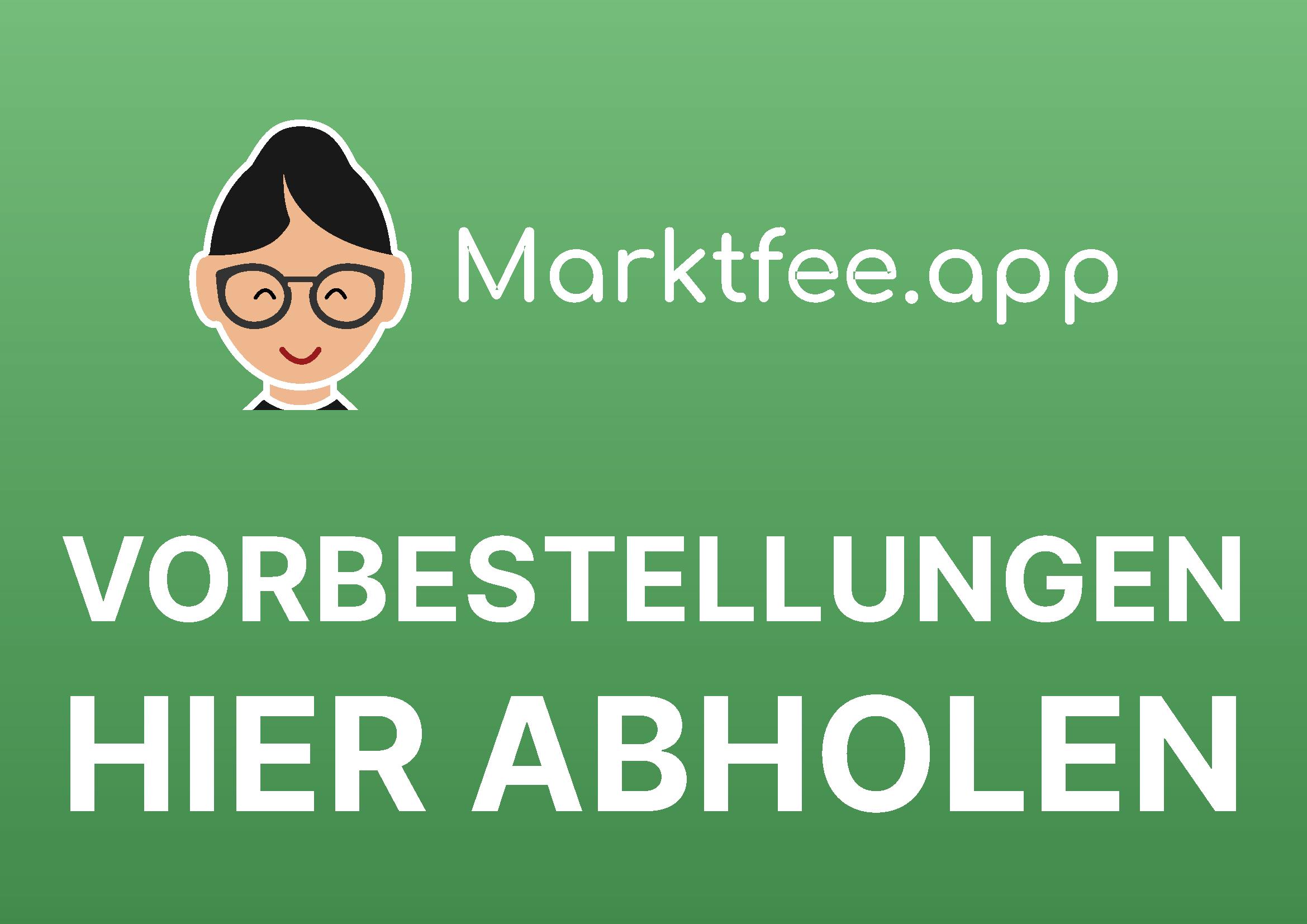 Marktfee.app Abholschild DinA4