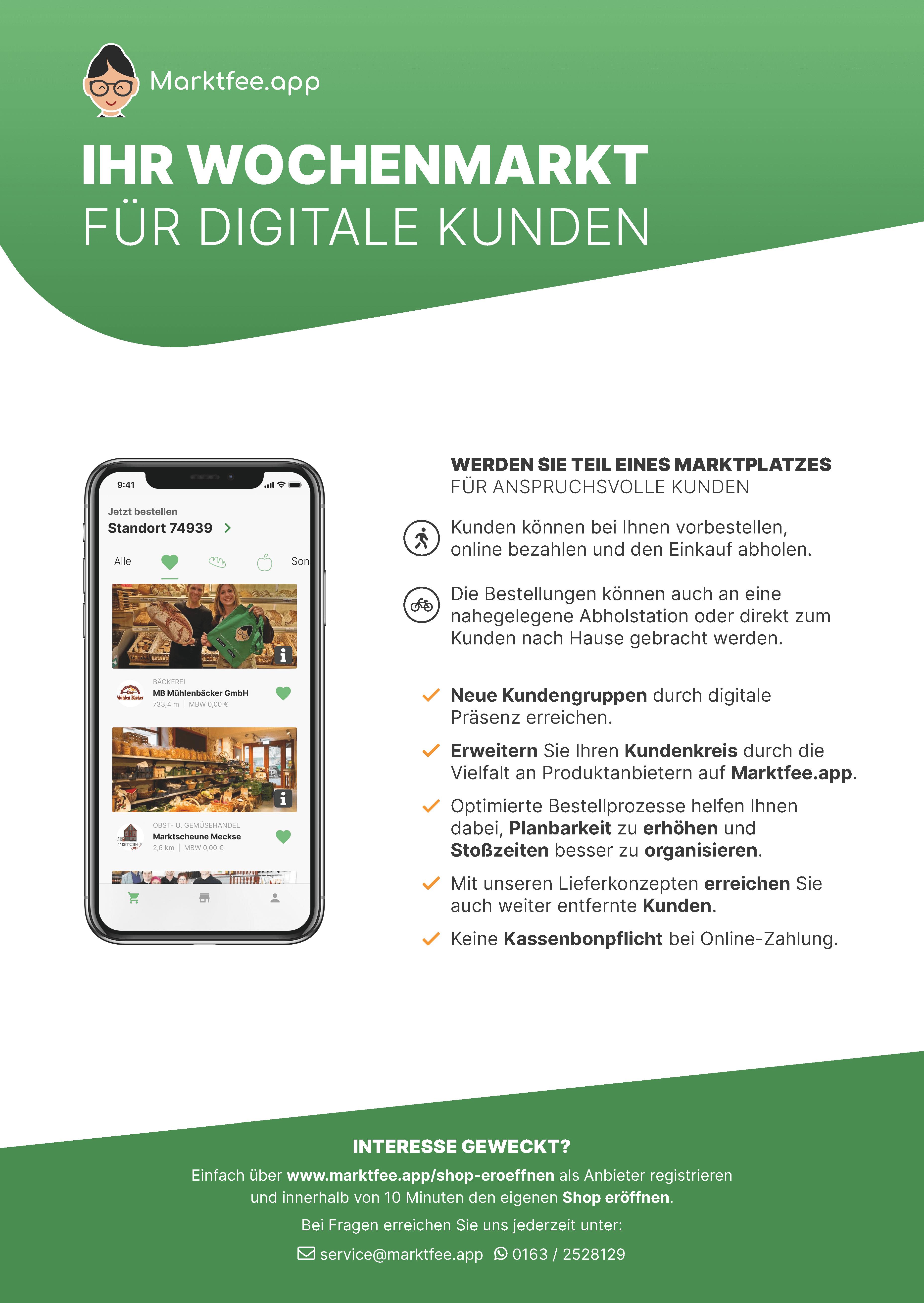 Marktfee.app Flyer A4