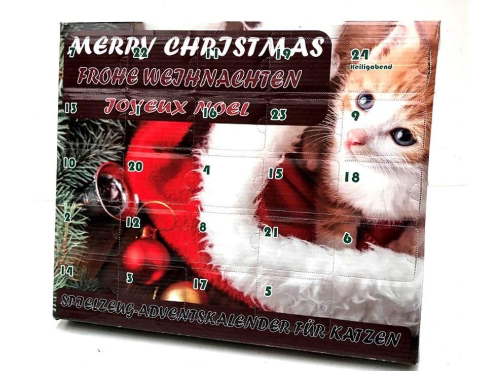 Adventskalender mit Katzenspielzeug