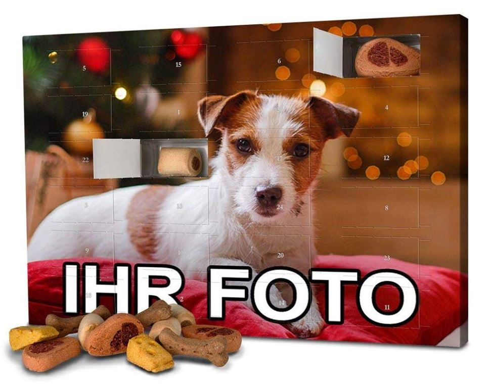 Personalisierter Weihnachtskalender für Hunde