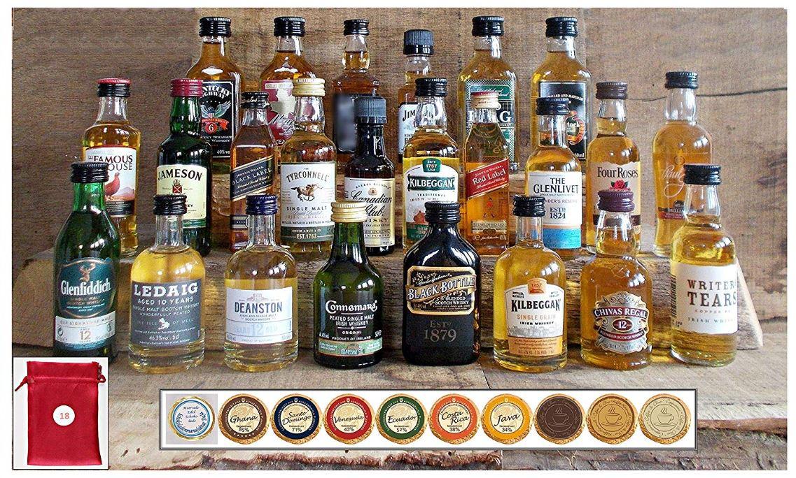 Adventskalender mit Whisky und Edelschokolade