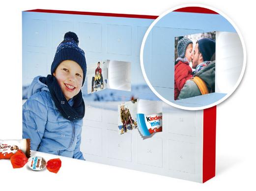 Foto-Adventskalender mit Schokolade von kinder®