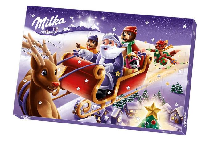 Adventskalender mit Schokoladenfiguren