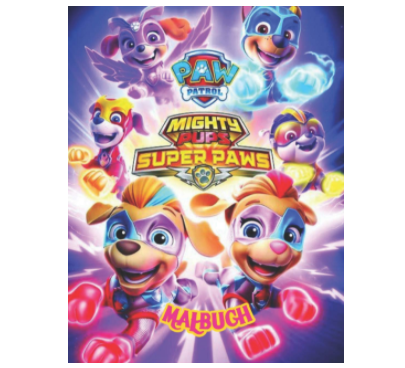Paw Patrol Mighty Pups Super Paws Malbuch