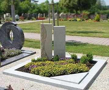 Doppelgrabstein Granit Modern