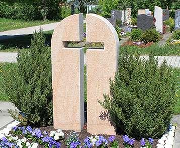 Doppelgrabstein Kreuz Heilbronn