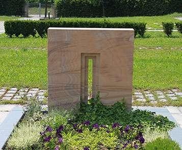 Doppelgrabstein Modern Sandstein