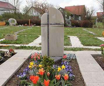 Doppelgrabstein Sandstein Granit Ottendorf