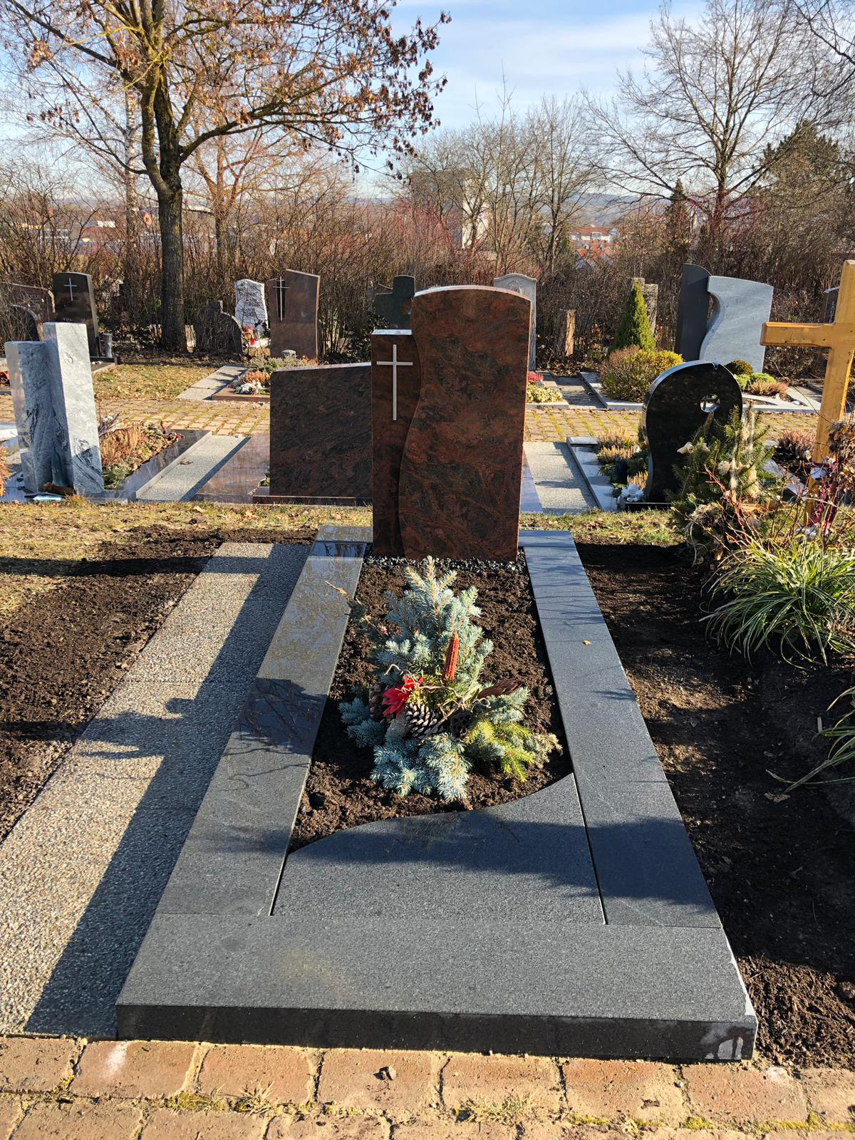 Grabstein Crailsheim poliert