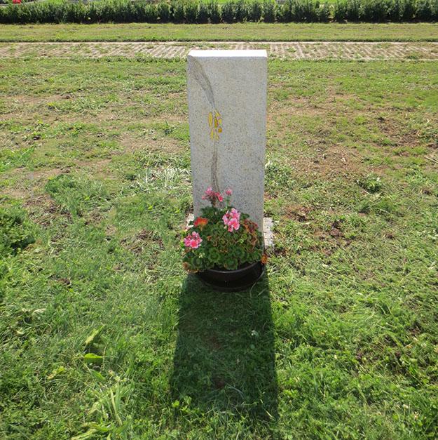 schöne, günstige und moderne Grabsteine vom Steinmetz und Bildhauer Messerschmidt aus Deutschland Einzelgrabstein Sandstein modern