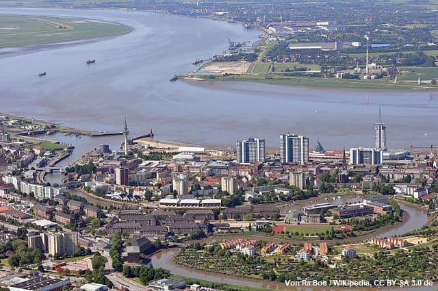 Bremerhaven Geestemündung Drohnenbild