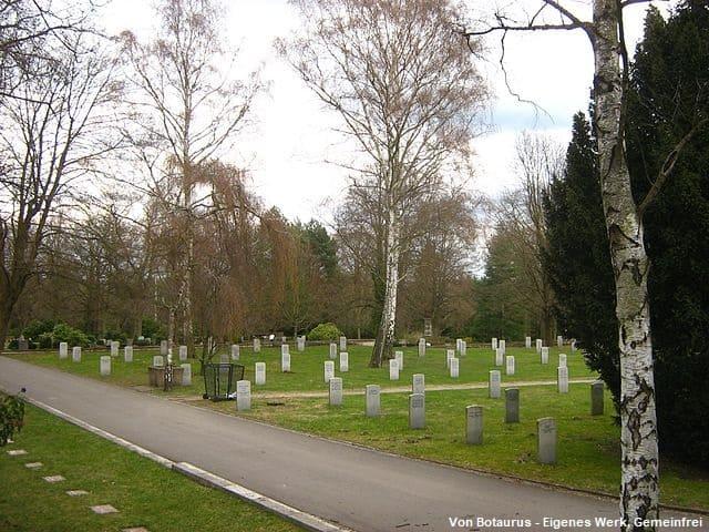 Grabsteine auf dem neuen Freidhof Potsdam