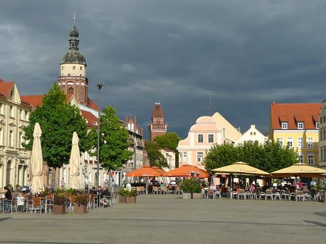 Marktplatz Cottbus Innenansicht