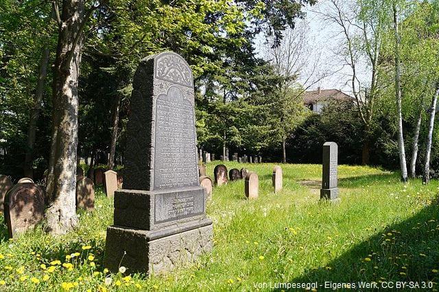 Grabsteine jüdischer Friedhof Hanau