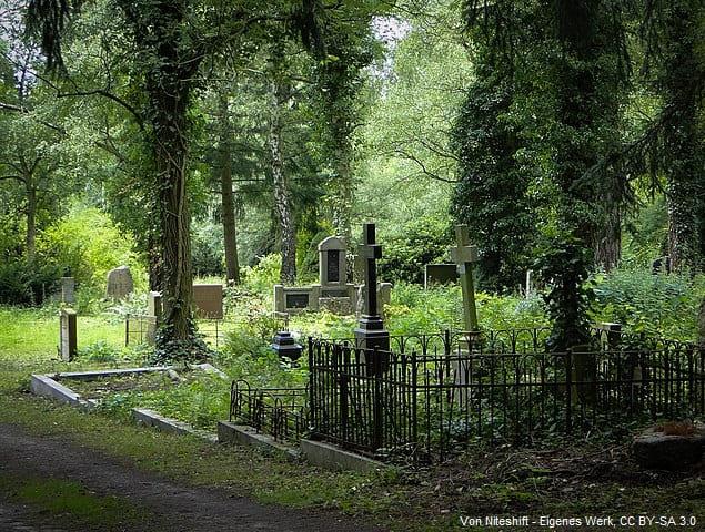Grabsteine auf Alter Friedhof Schwerin