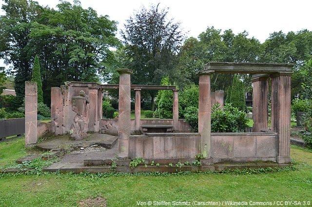 Grabsteine in Duisburg Friedhof