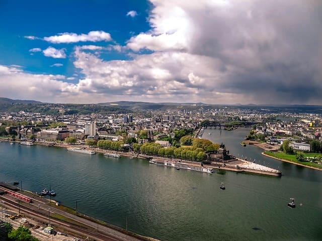 Messerschmidt Koblenz Luftaufnahme