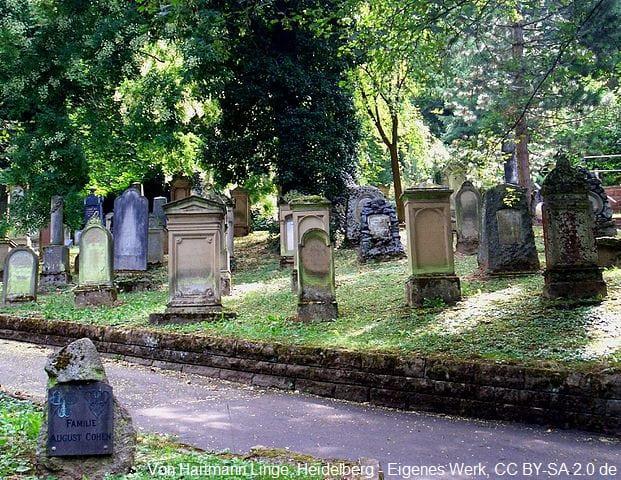 Grabsteine in Heidelberg Friedhof