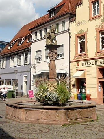 Löwenbrunnen in Offenburg Baden Würtenberg