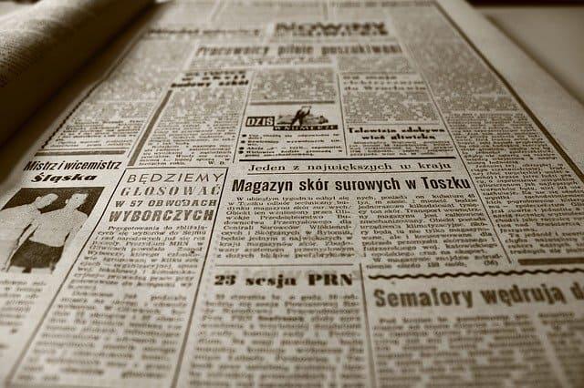 Traueranzeigen in der Zeitung