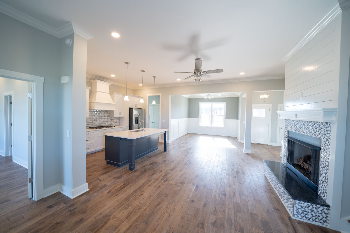 Interior of Lot 130, a custom home at Twin Creeks Village