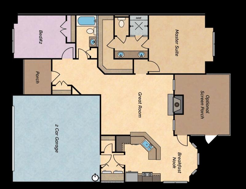The River lake villa floor plan