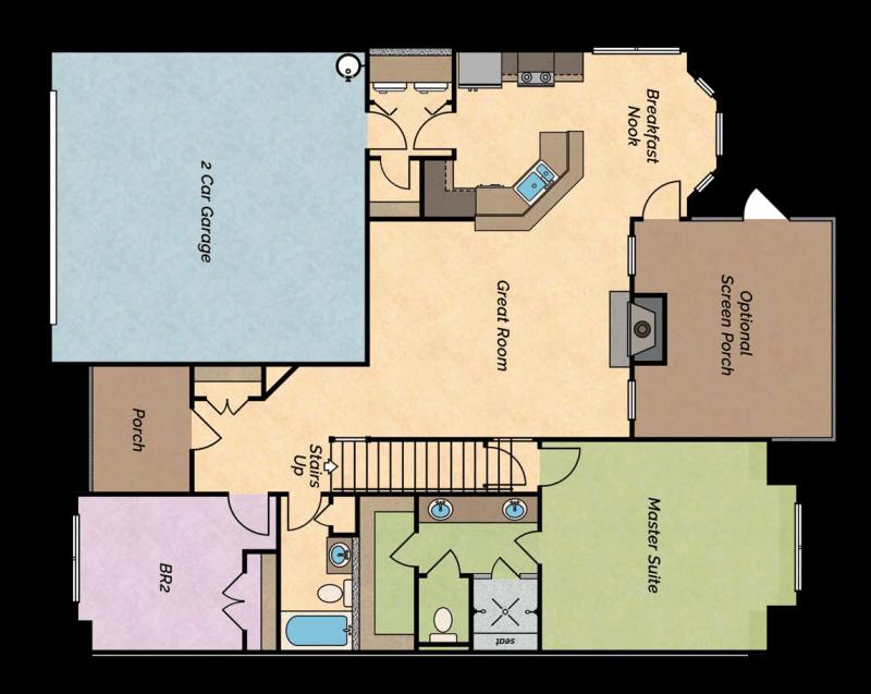 Big River lake villa floor plan 1