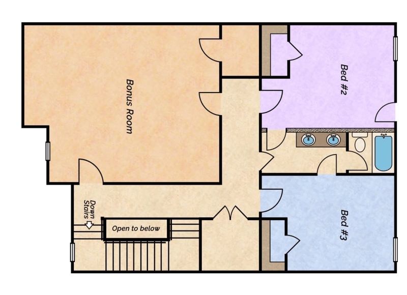 Lake Side lake villa floor plan 2