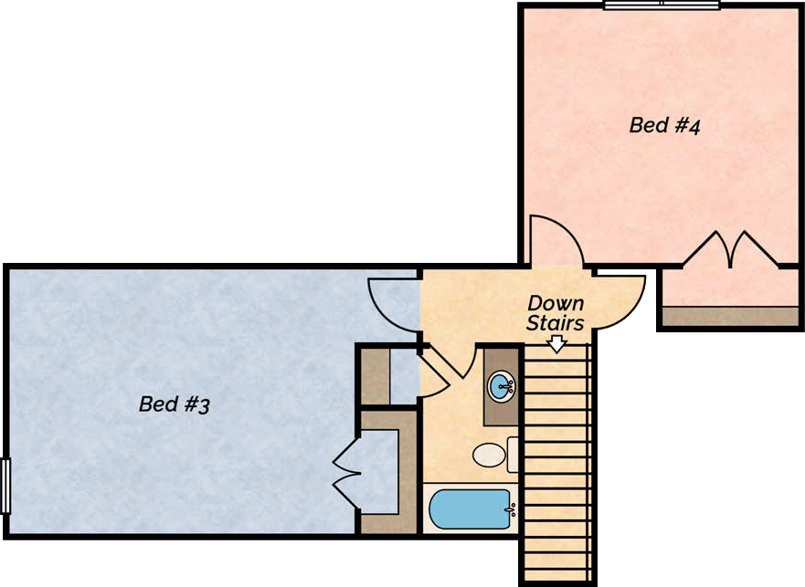 Big River lake villa floor plan 2