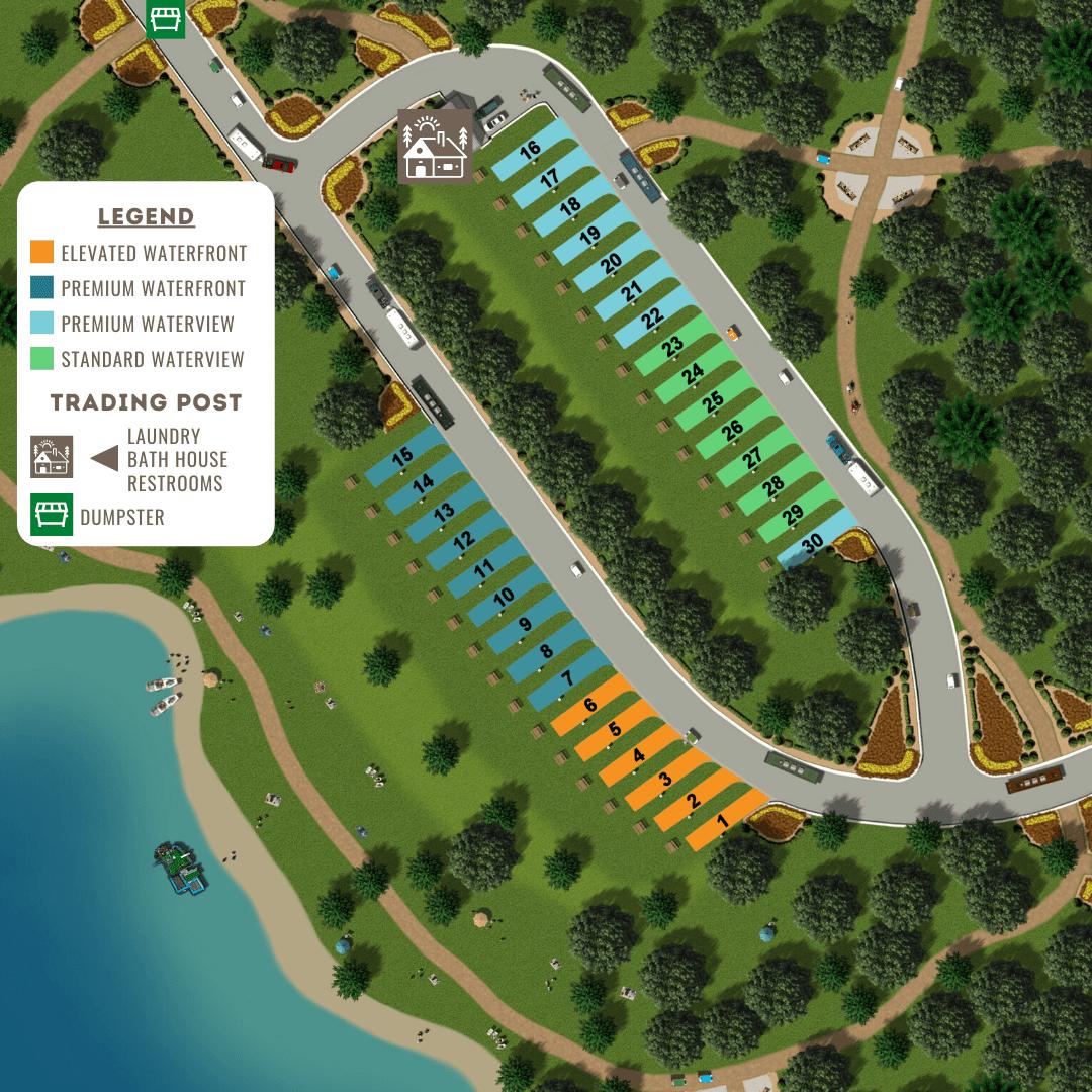 Twin Creeks RV Resort Map