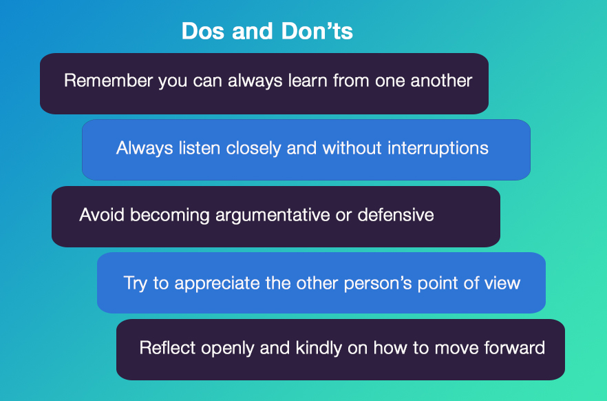 Dos and don'ts of feedback at work