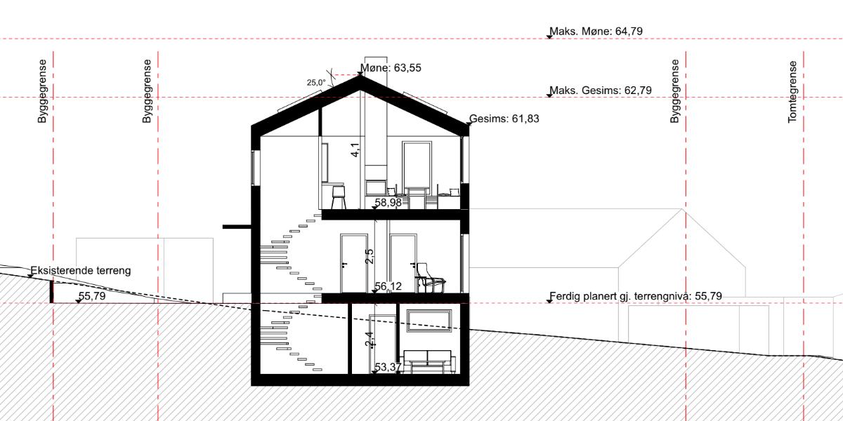 Bygge hus tverrsnitt