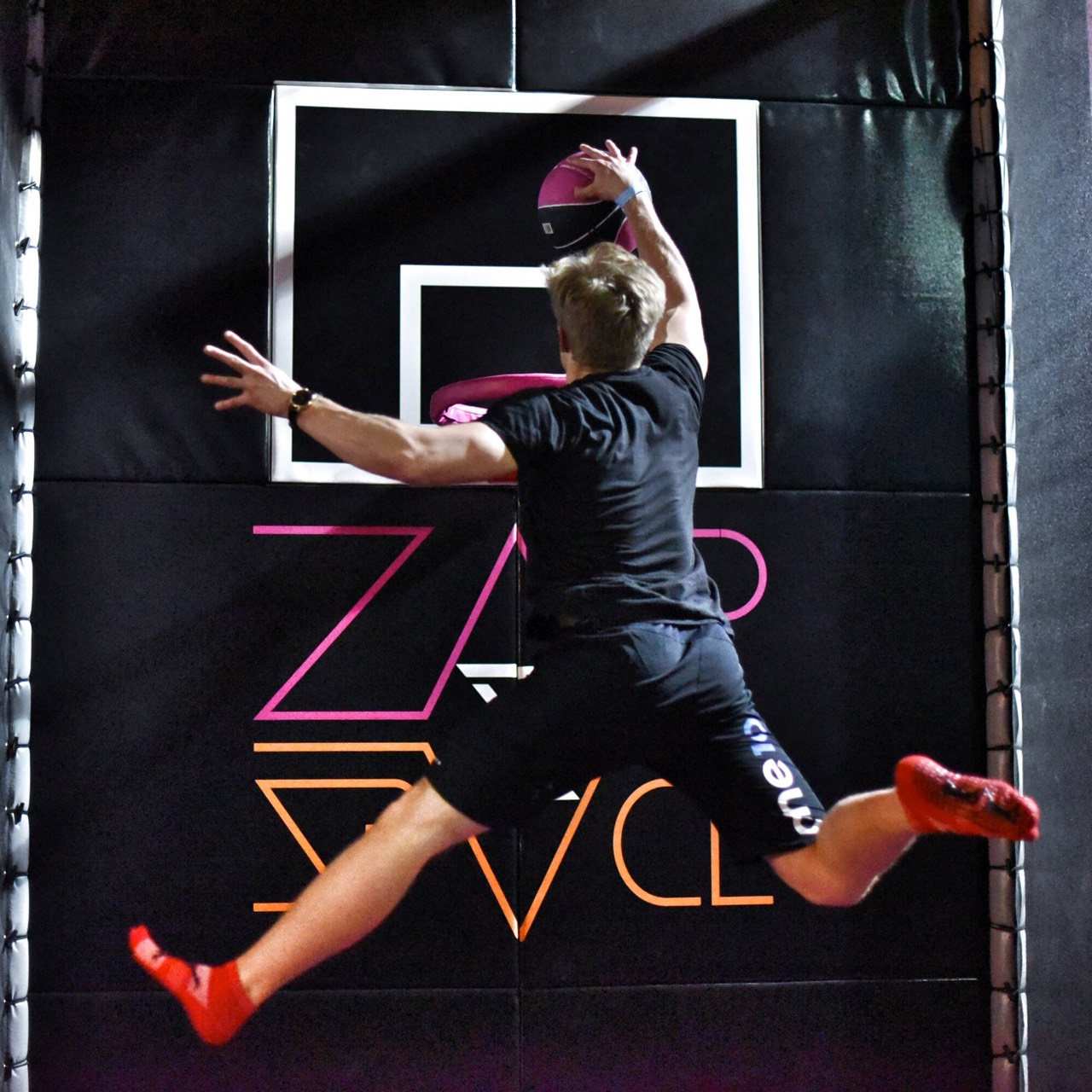 trampolining fun at zapspace