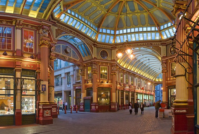 Leadenhall Market is the setting for Diagon Alley