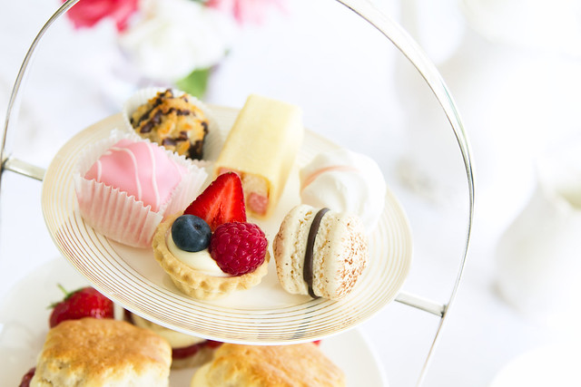 an assortment of pastries for afternoon tea