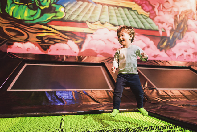 Mini Flippers session at Flip Out Trampoline park