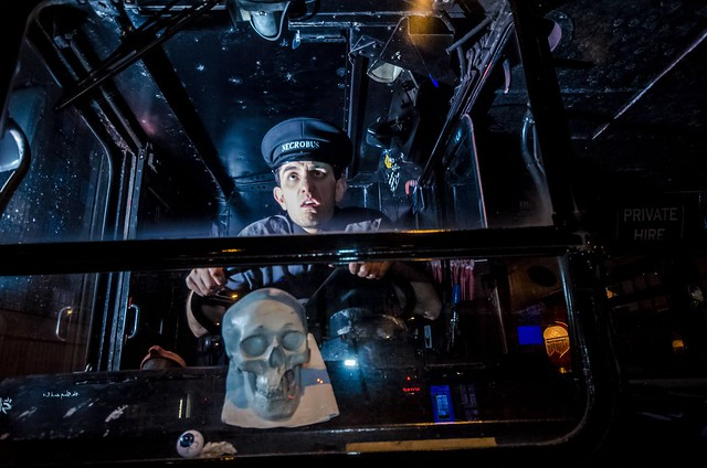 Bus driver of the Ghost Bus Tours in London