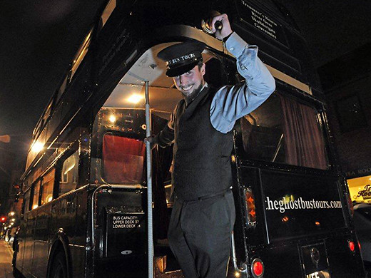 Ghost Bus Tours London conductor