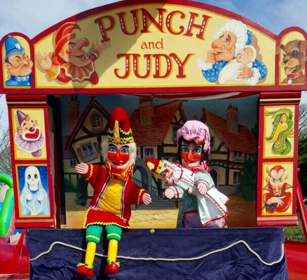A classic Punch and Judy puppet show