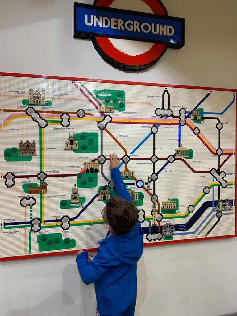 playing with a LEGO Tube map