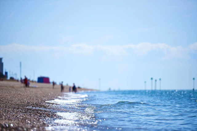 southend-on-sea beach in the summer