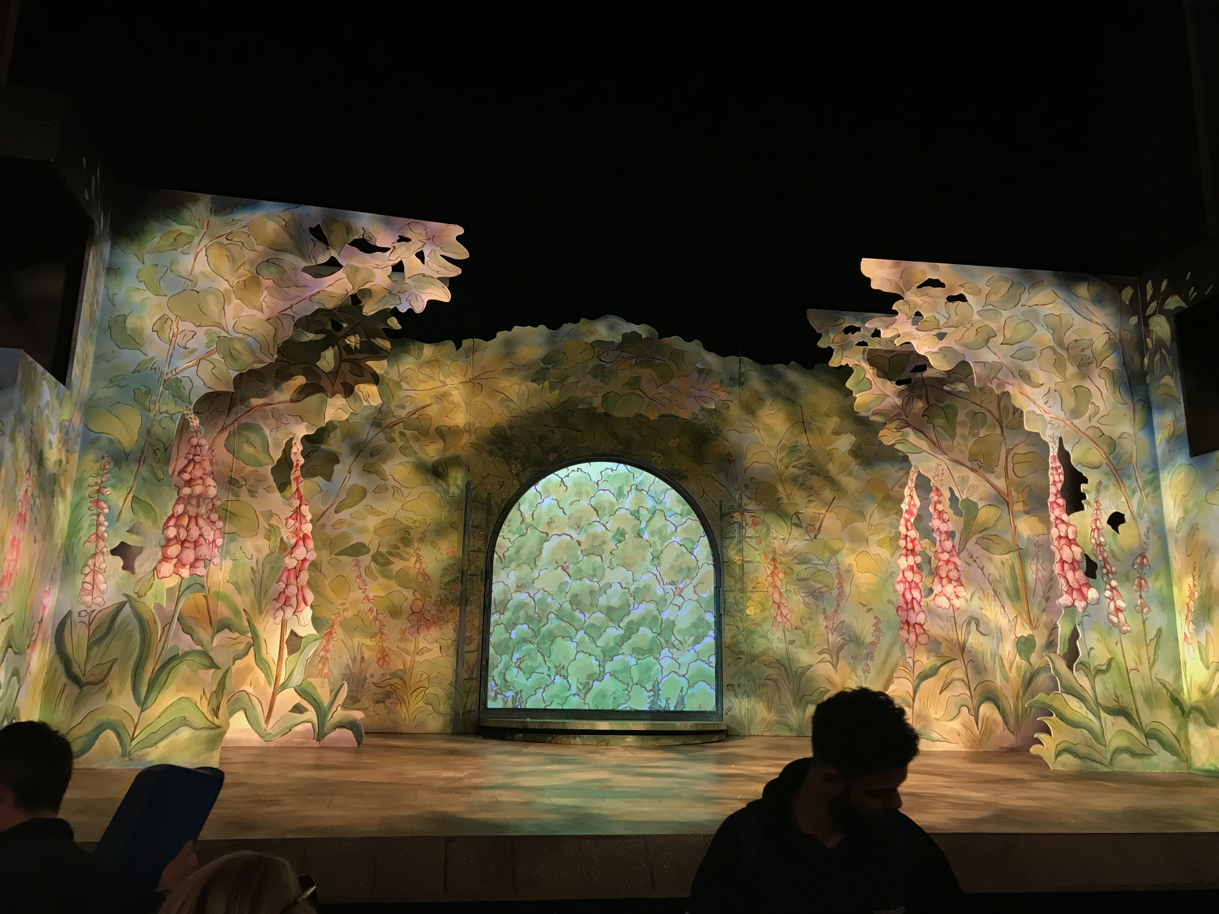 the set of where is peter rabbit at the haymarket theatre