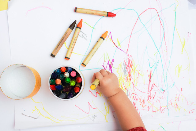 crayon colouring fun activity