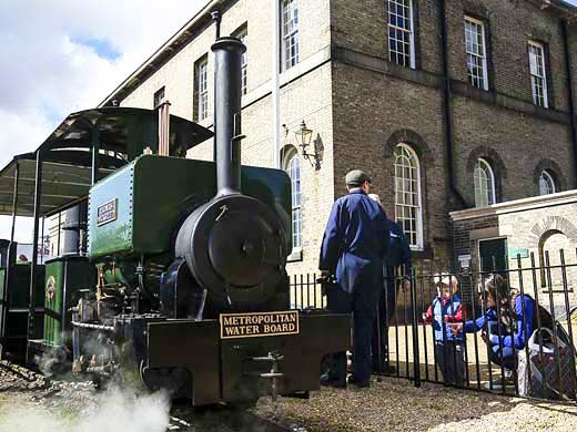 steam train ride at london museum of water and steam