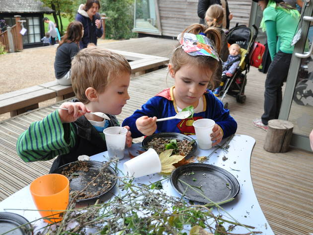Halloween arts and crafts at a Hyde Park Discovery Day